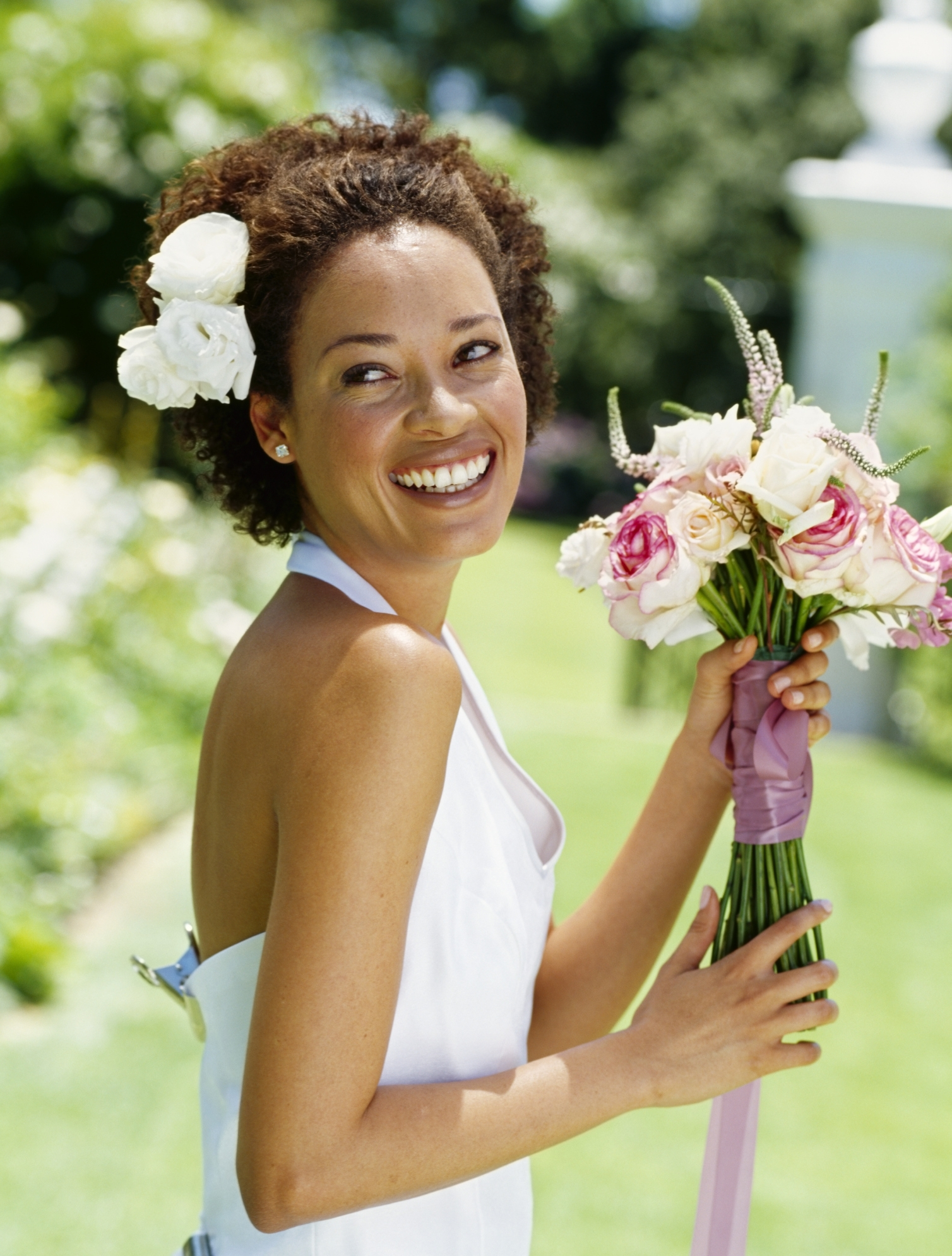Best Wedding Hairs With Regard To Preferred Wedding Hairstyles For Short Natural Curly Hair (View 8 of 15)