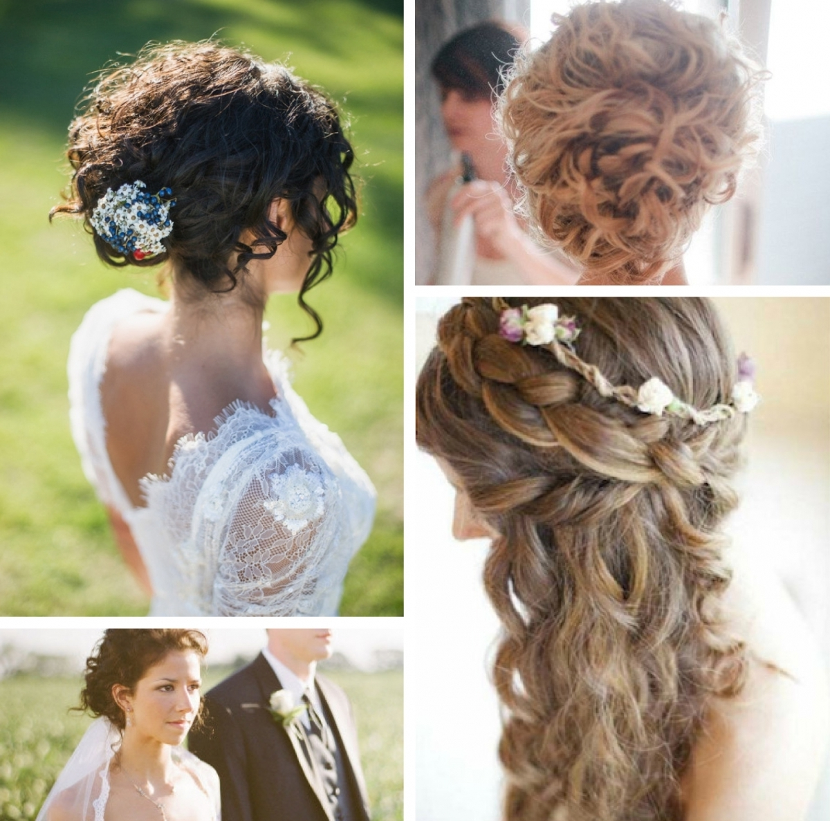 Best Wedding Hairstyles With Braids And Curls Images – Styles Regarding Newest Wedding Hairstyles With Curls (View 2 of 15)