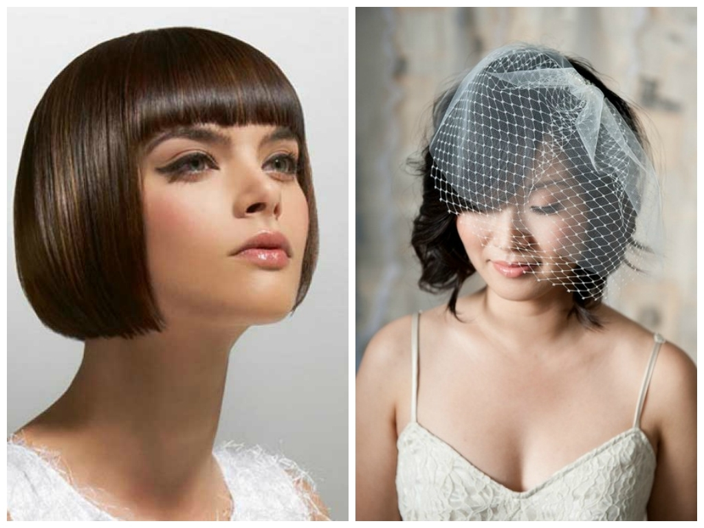 Featured Photo of Wedding Hairstyles For Short Hair With Fringe
