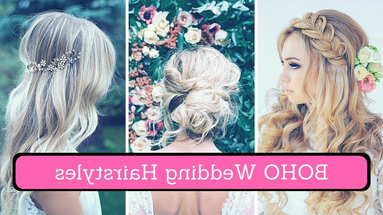 Boho Wedding Hairstyles (2018) – Bohemian Wedding Hair For Inside Newest Boho Wedding Hairstyles (View 10 of 15)