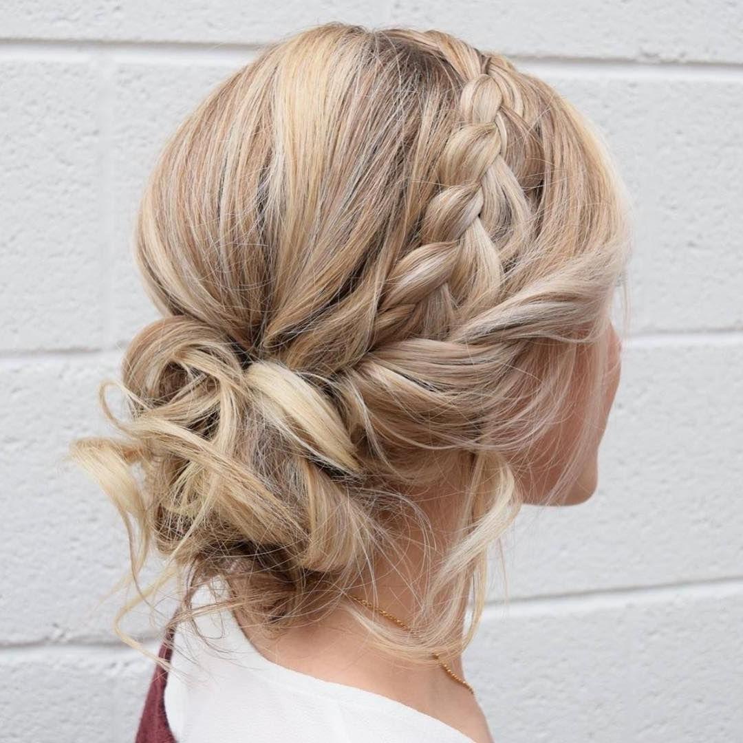 Braid Crown Updo Wedding Hairstyles,updo Hairstyles,messy Updos Regarding 2017 Messy Updos Wedding Hairstyles (View 5 of 15)