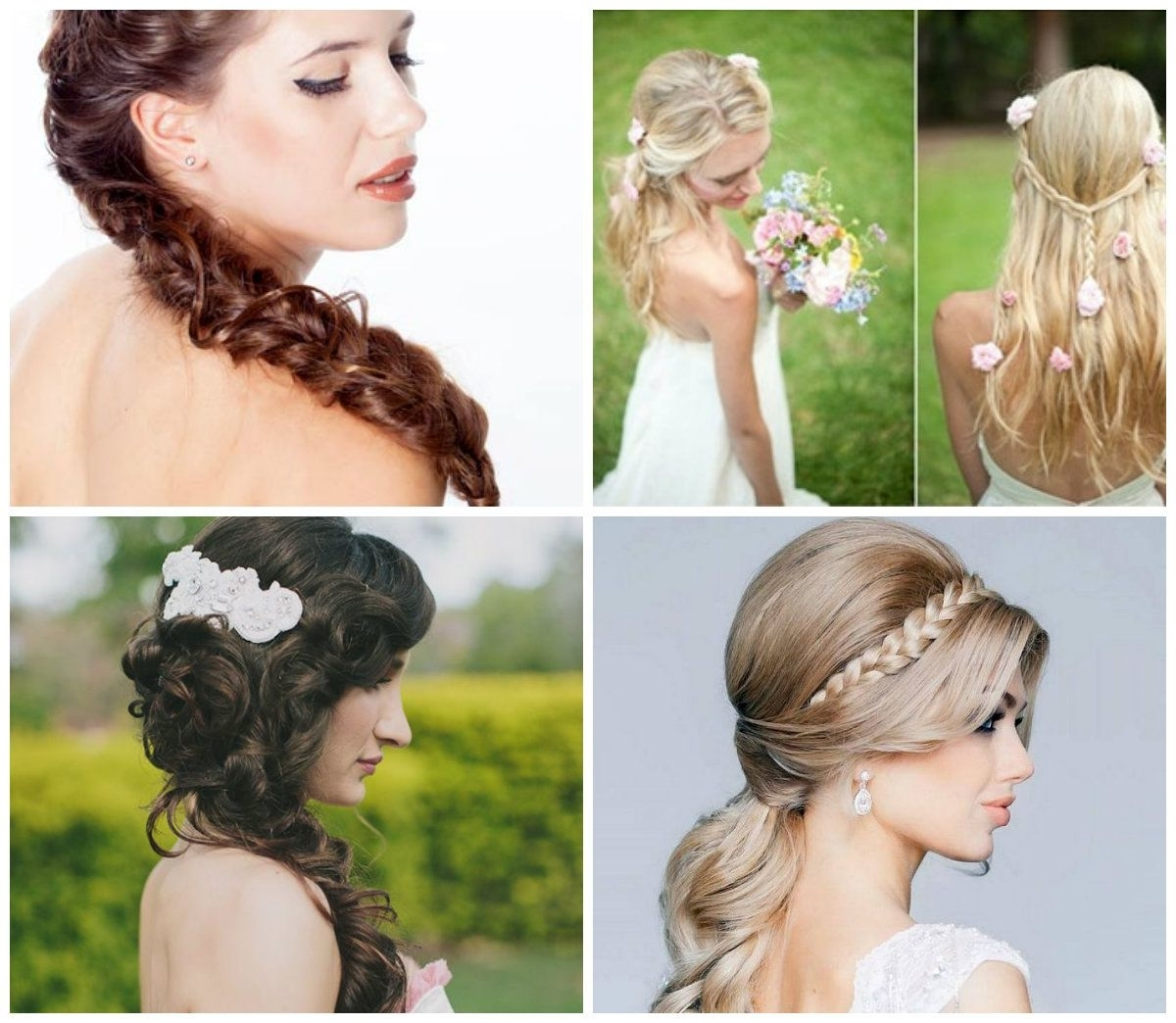 Braided Down Bridal Hairstyle To Produce The Magnificence Of For Best And Newest Wedding Hairstyles Like A Princess (View 5 of 15)