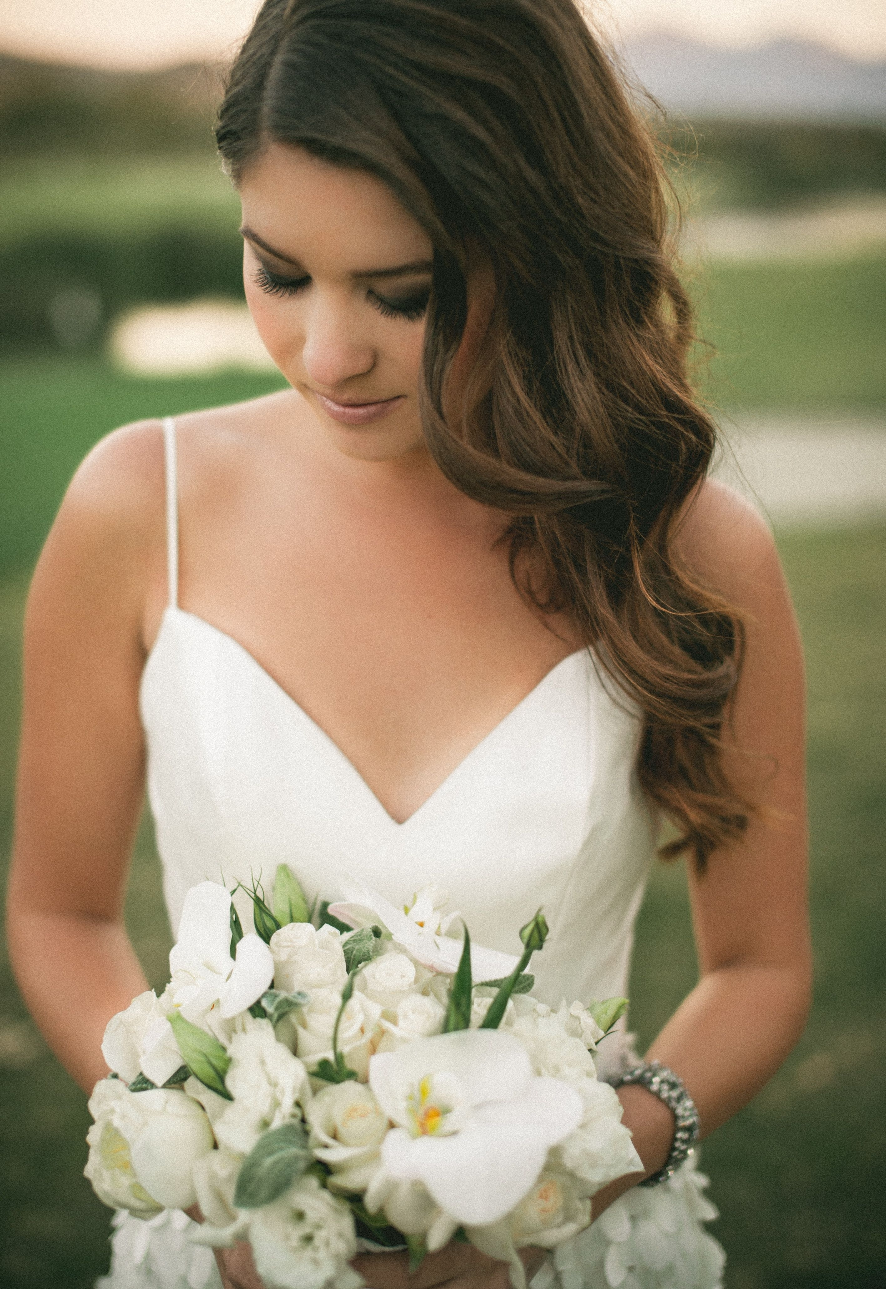 Bridal Hair, Soft Curls, Side Part #wedding #photography (View 4 of 15)