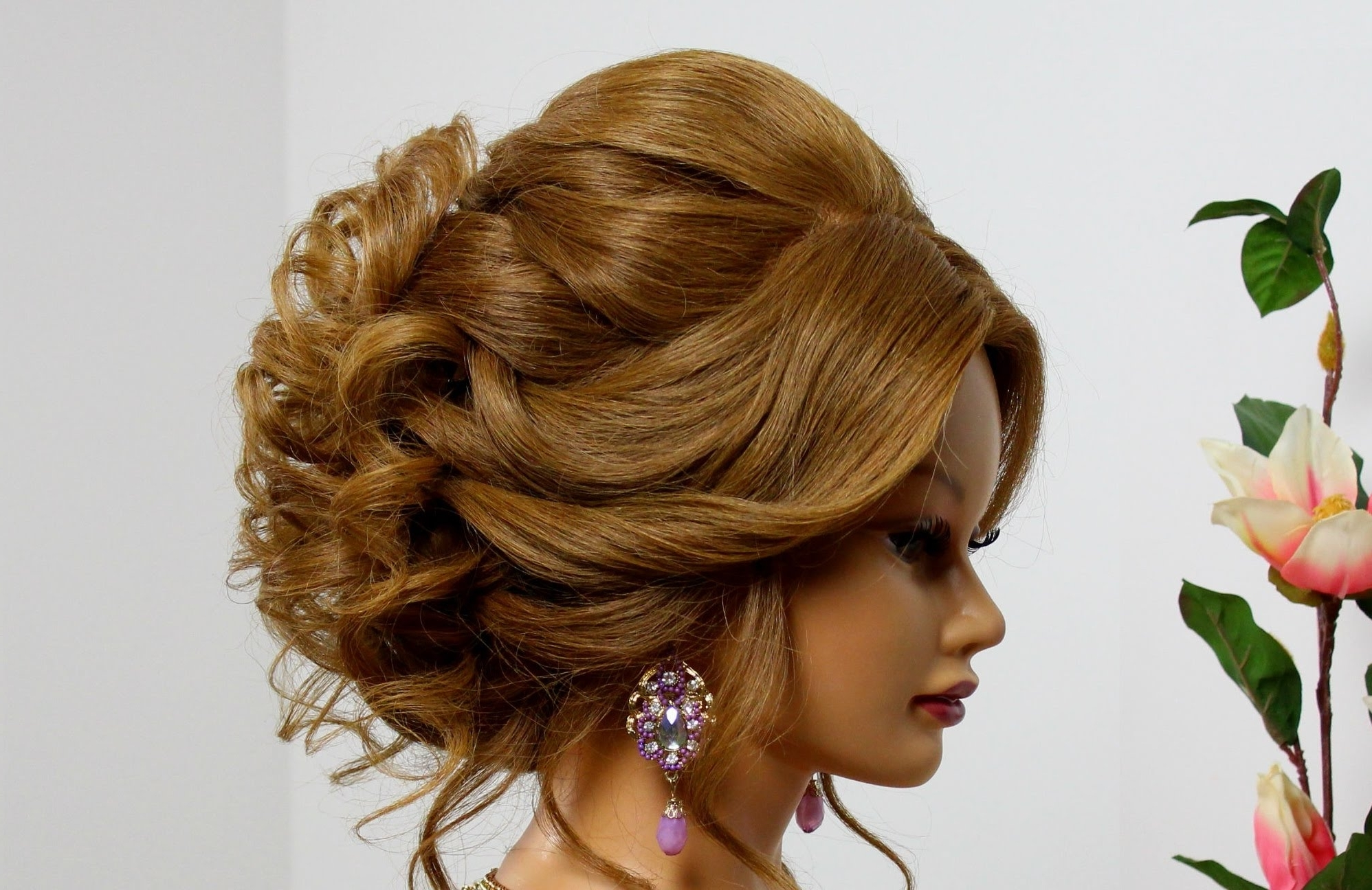 Bridal Hairstyle For Long Medium Hair. Wedding Prom Updo (View 3 of 15)