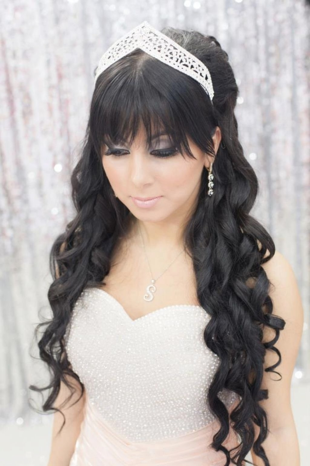 Bridal Hairstyle For Long Straight Hair Fade Haircut 50th Wedding In Well Known Wedding Updos For Long Straight Hair (View 6 of 15)