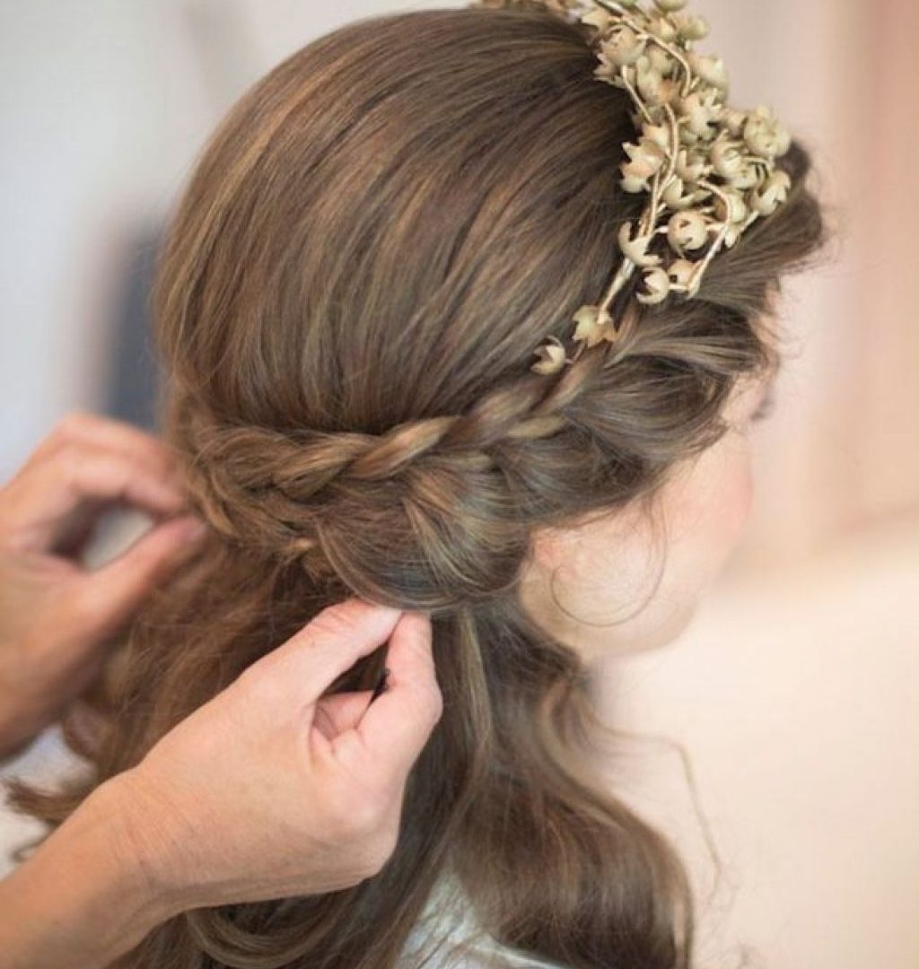 Bridal Hairstyle Updo Long Hair Indian Wedding Ideas For Medium With Most Popular Wedding Hairstyles For Medium Length Hair With Fringe (View 4 of 15)