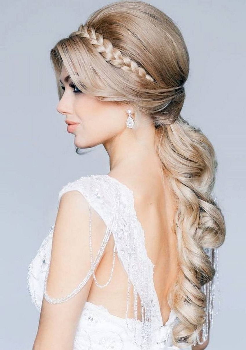 Bridal Hairstyles For Long Hair 2015 – Womenstyle Intended For 2017 Wedding Hairstyles For Long Ponytail Hair (View 2 of 15)