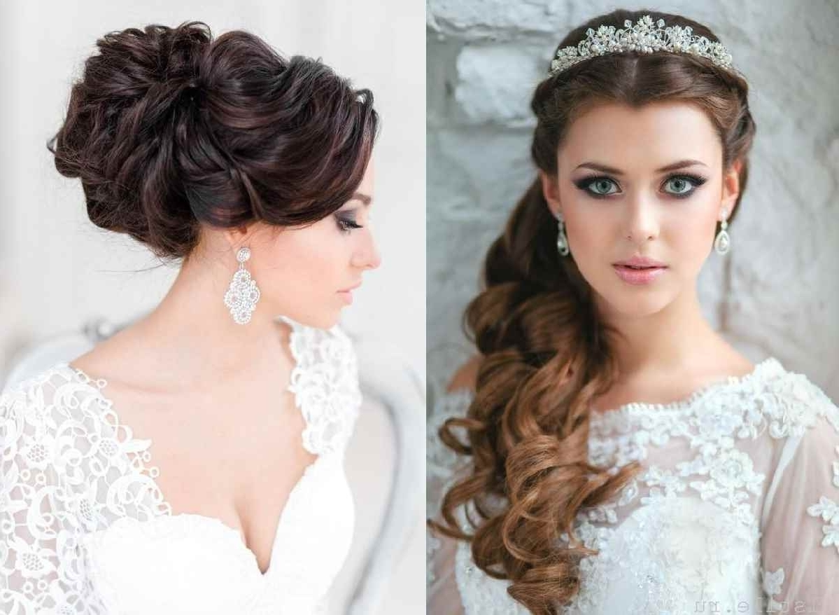 Bridal Hairstyles For Long Hair Down Wedding 50th Anniversary Cakes Inside Well Known Wedding Hairstyles For Long Loose Hair (View 11 of 15)