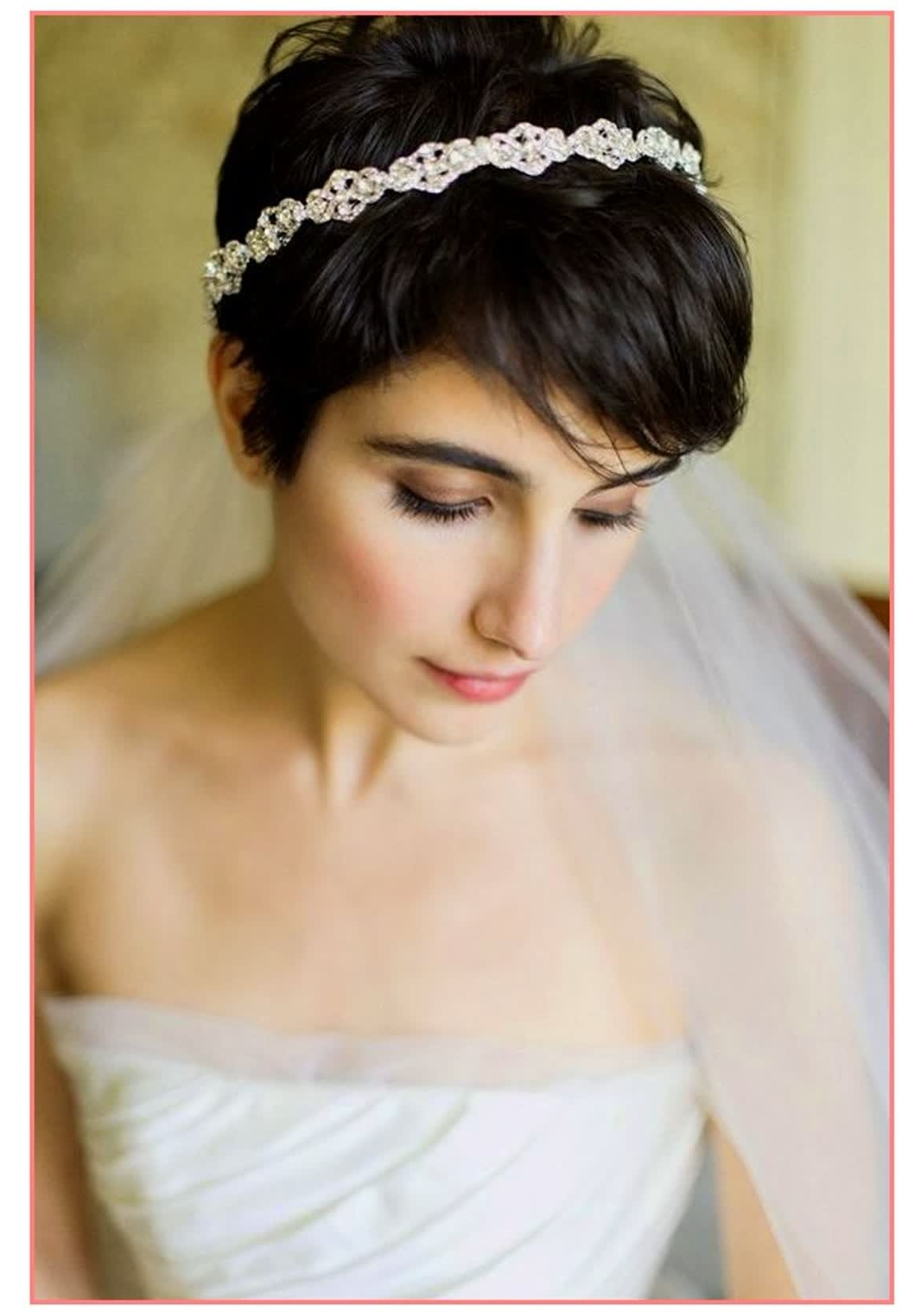 Bridal Hairstyles For Short Hair With Veil – The Newest Hairstyles Throughout Most Recent Bridal Hairstyles For Short Length Hair With Veil (View 15 of 15)