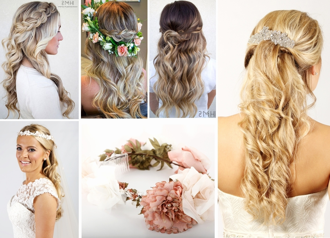Bridal Hairstyles Half Up Down With Veil And Tiara – The Latest In Latest Wedding Hairstyles For Long Hair Half Up With Veil (View 5 of 15)
