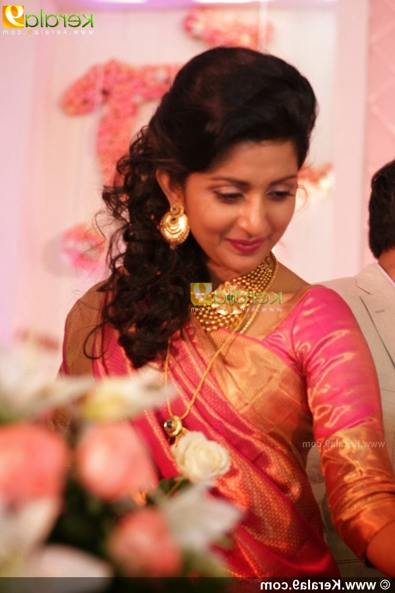 Bridal Hairstyles On Saree (View 2 of 15)