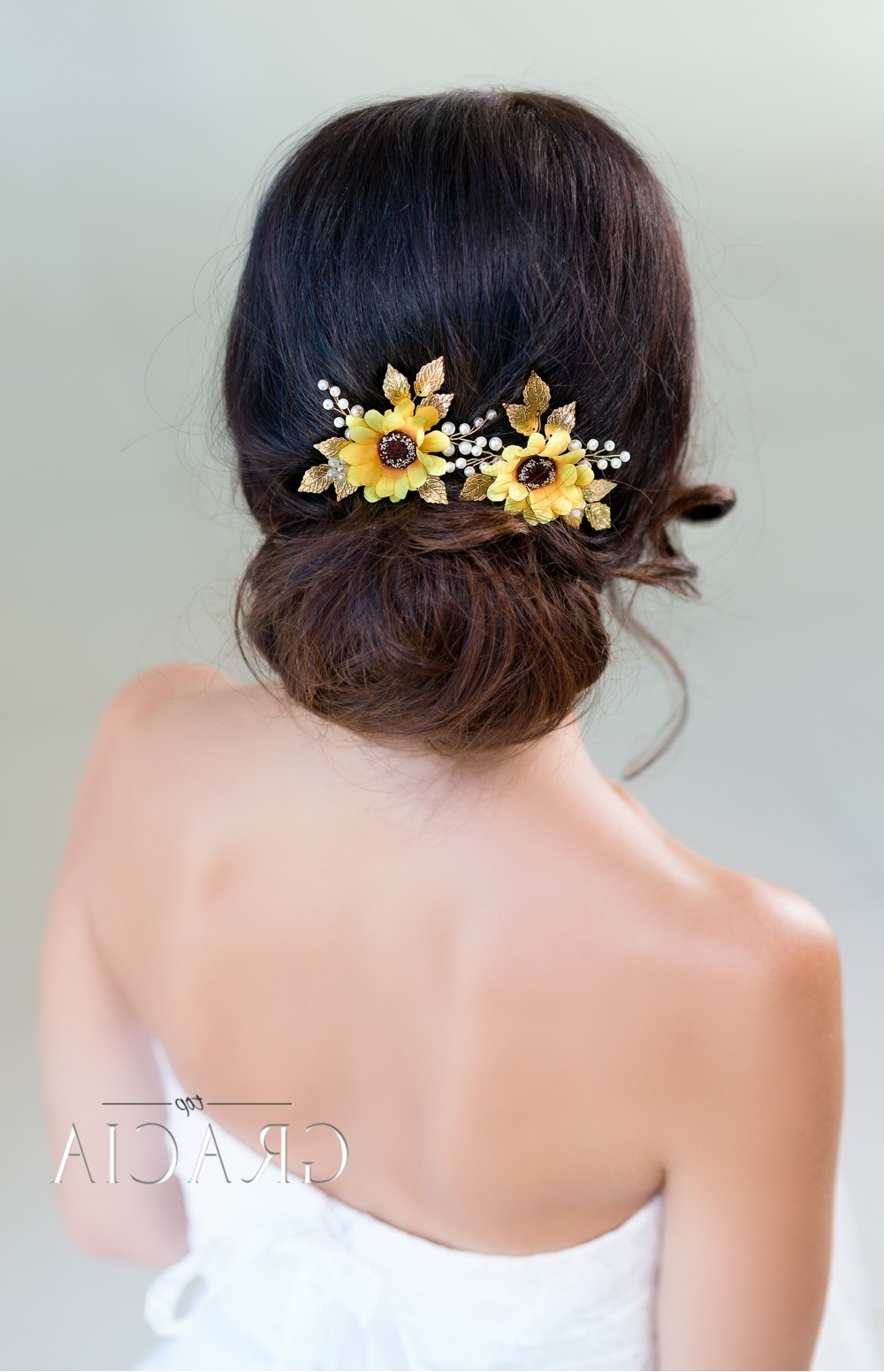 Bridal Headbands – Topgracia Handmade Bridesmaid Bridal Hair With Famous Wedding Hairstyles With Sunflowers (View 10 of 15)