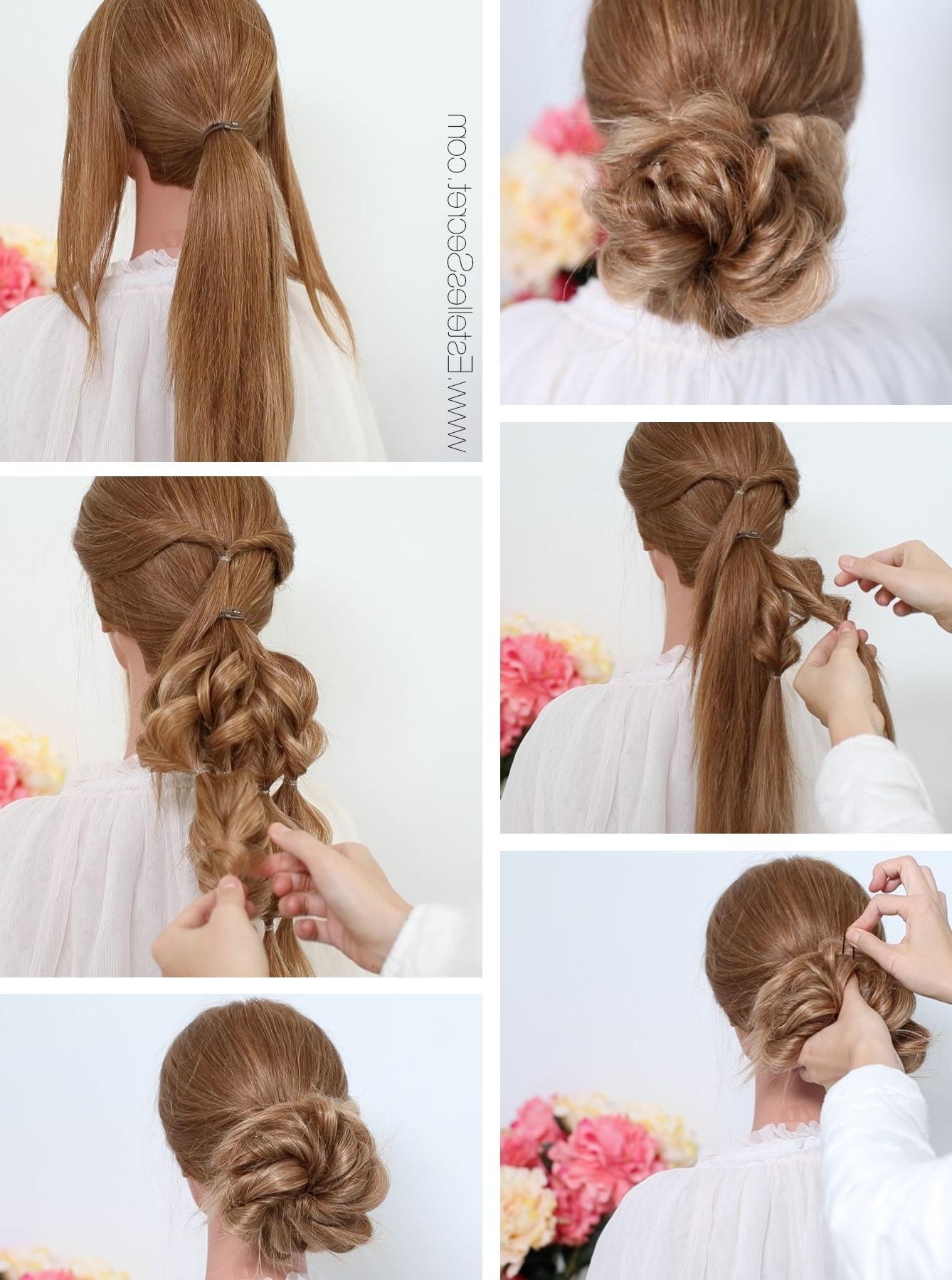 Bridal Low Bun Hairstyle Using Estelles Secret Hair Extensions (View 3 of 15)