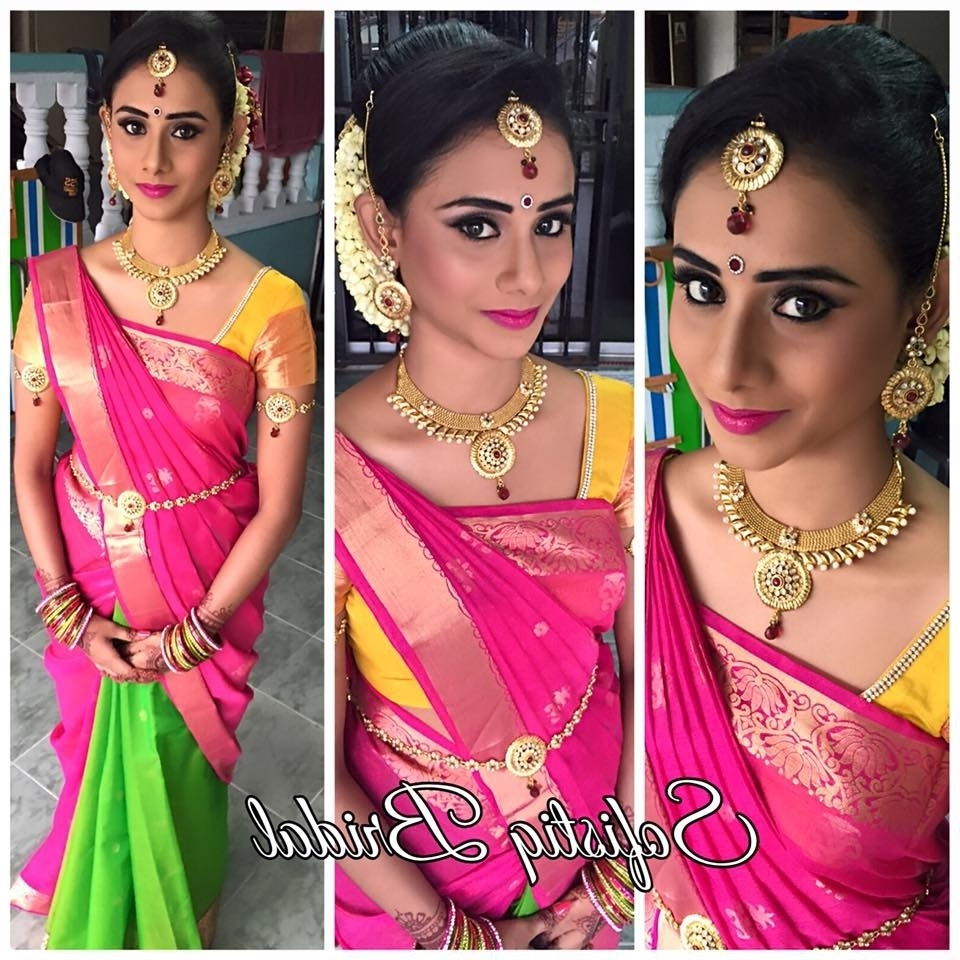 Bridal Makeup Archives – Flatpebble Inside Trendy Wedding Reception Hairstyles For Saree (View 3 of 15)