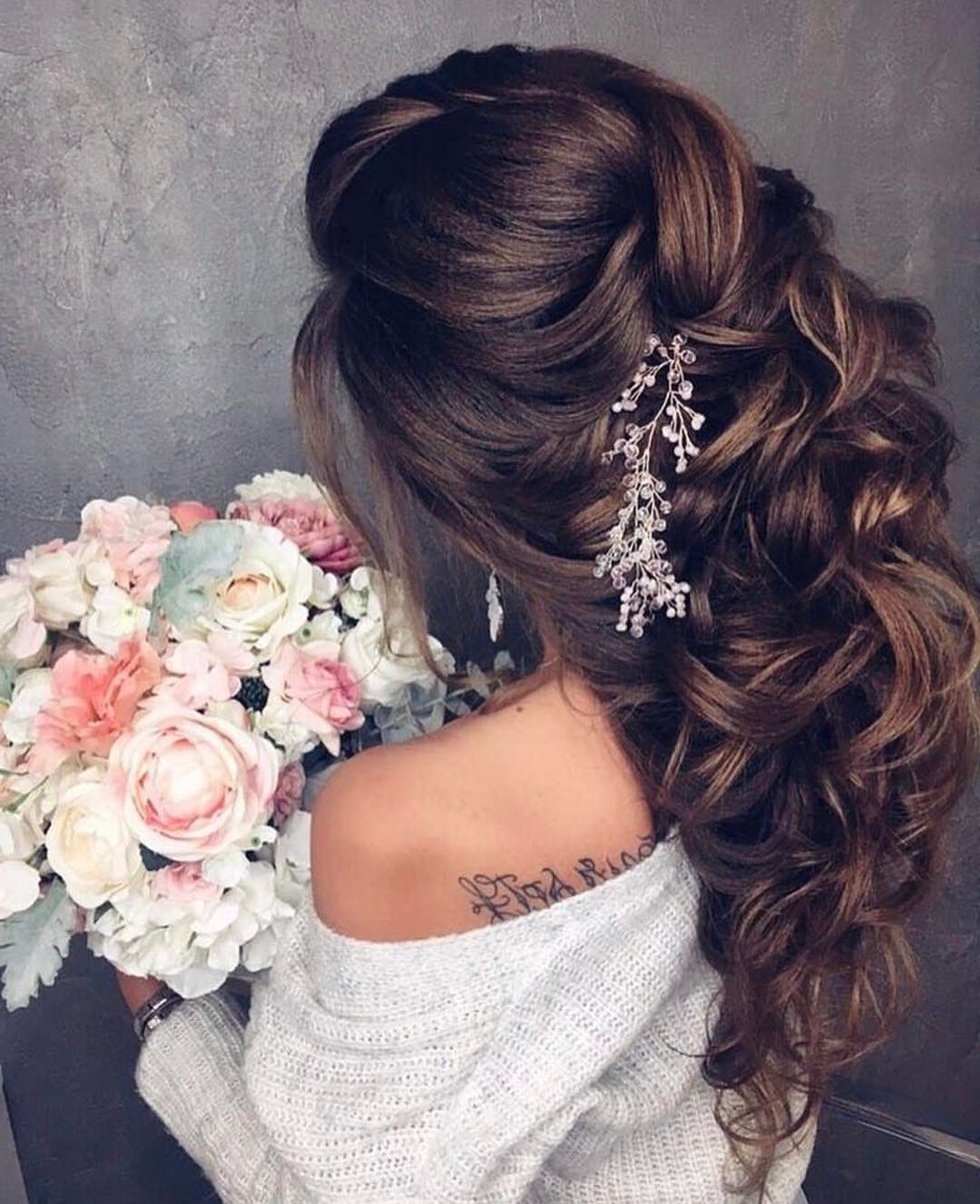 Bridal Regarding Most Recent Wedding Hairstyles For Long Brown Hair (View 4 of 15)