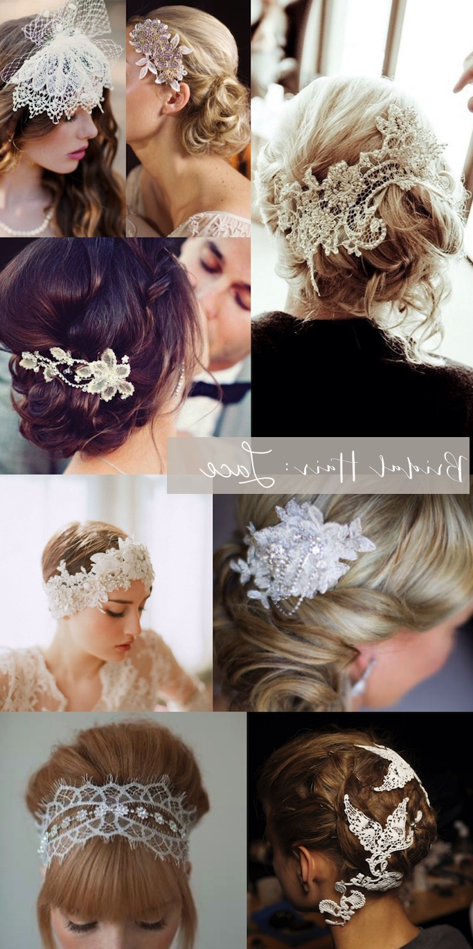 Bridal Style: Lace Hair Pieces (View 2 of 15)