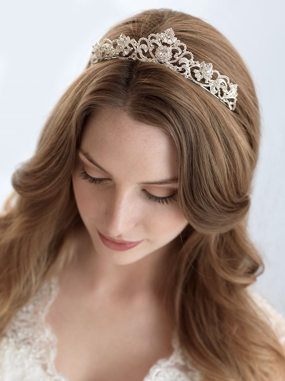 Bridal Tiara Hair Down – Tips In Choosing Bridal Tiaras Based N Face With Regard To Recent Wedding Hairstyles Down With Tiara (View 6 of 15)