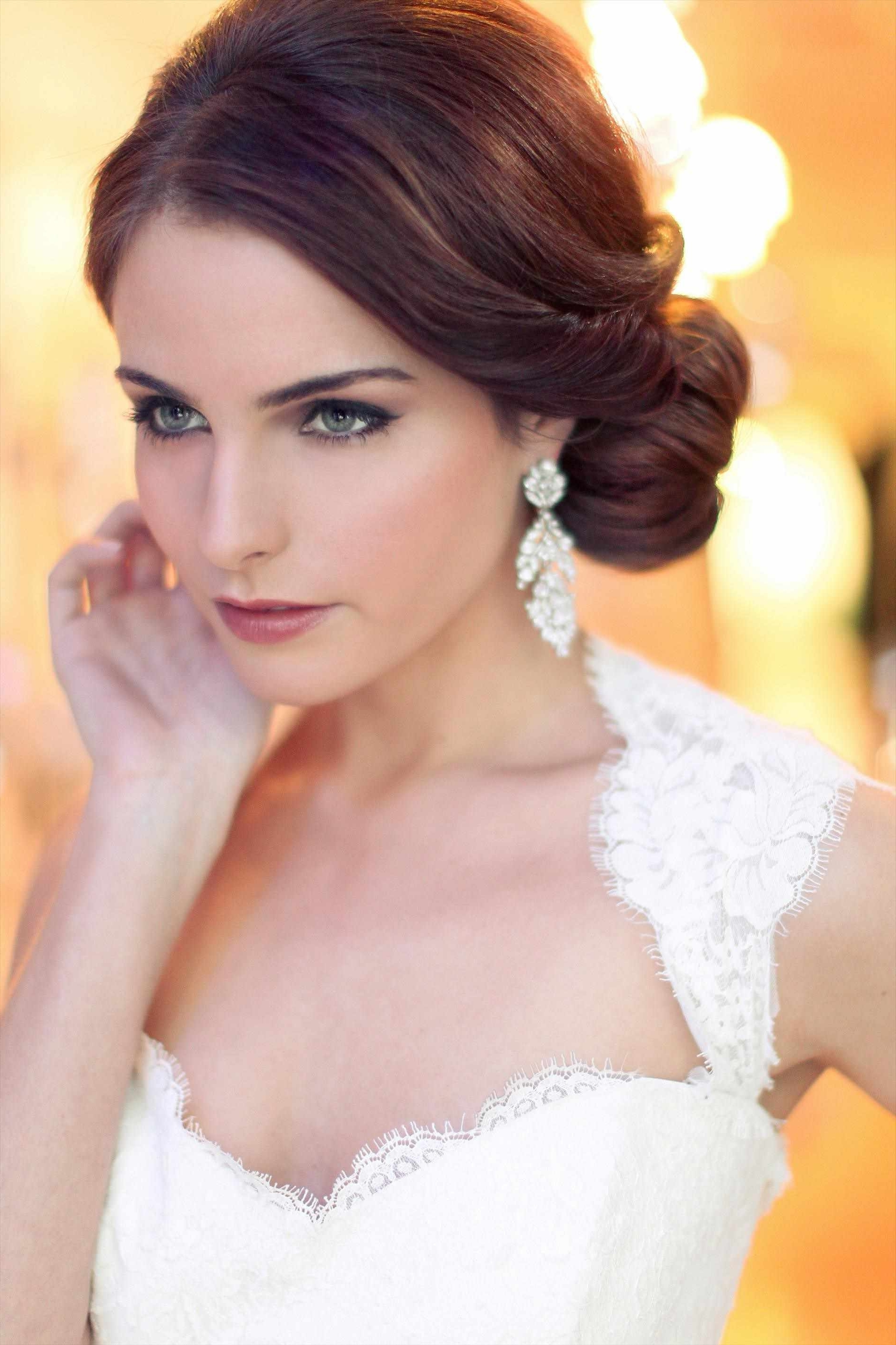 Brilliant Ideas Of Bridal Hairstyles For Round Faces Excellent For Most Recent Wedding Hairstyles For Short Hair And Round Face (View 5 of 15)