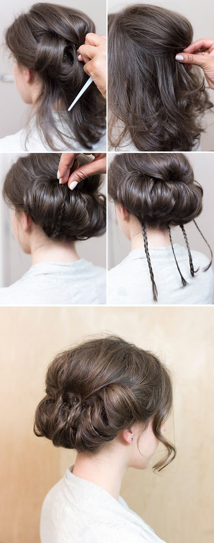 Chignons Within 2018 Classic Wedding Hairstyles For Medium Length Hair (View 6 of 15)