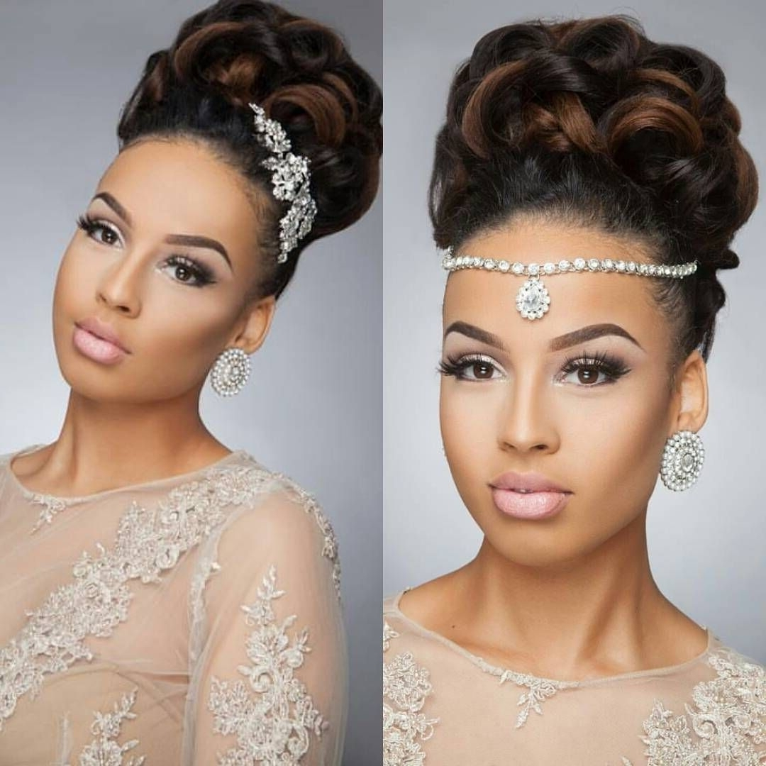 Choose An Elegant Waterfall Hairstyle For Your Next Event Pertaining To Newest Ebony Wedding Hairstyles (View 6 of 15)