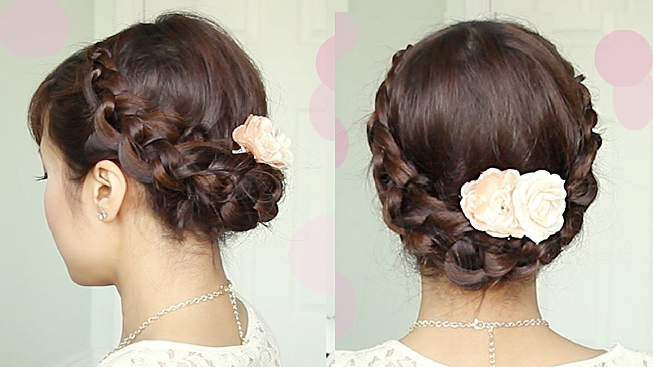Classy To Cute Easy Hairstyles For Long Hair Impressive Thick Updos Inside Most Up To Date Wedding Hairstyles For Shoulder Length Thick Hair (View 2 of 15)