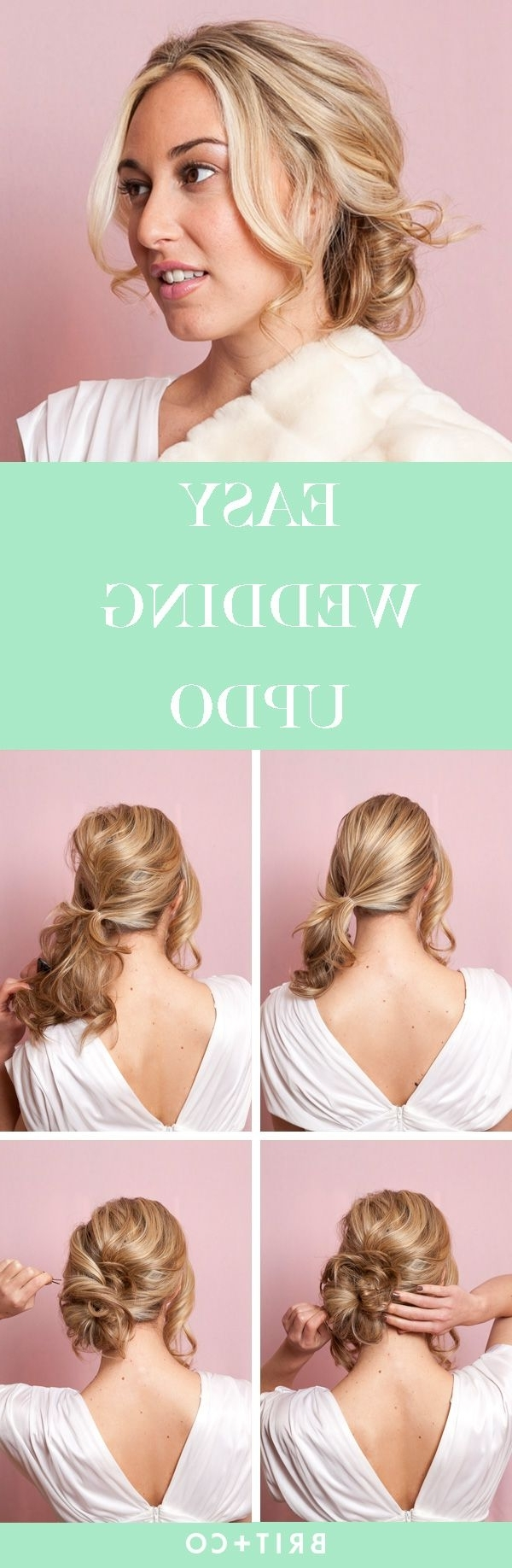 Coiffure Facile, Tuto Coiffure For Most Current Easy Wedding Hairstyles For Bridesmaids (View 4 of 15)