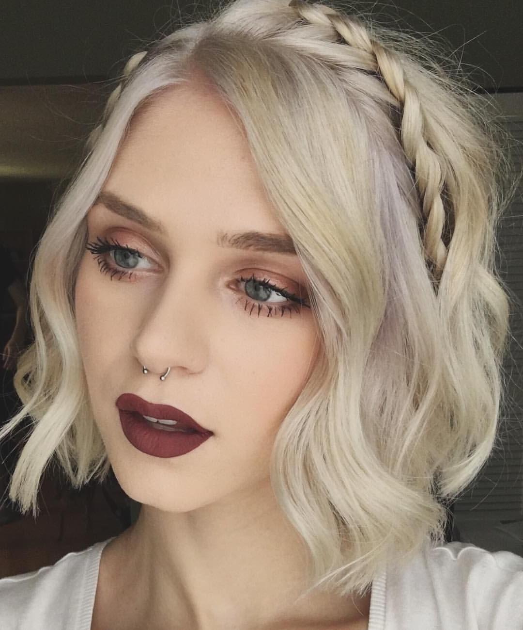 Consulta Esta Foto De Instagram De @fernxallysa • 2,345 Me Gusta Inside Best And Newest Wedding Hairstyles For Short Blonde Hair (View 15 of 15)