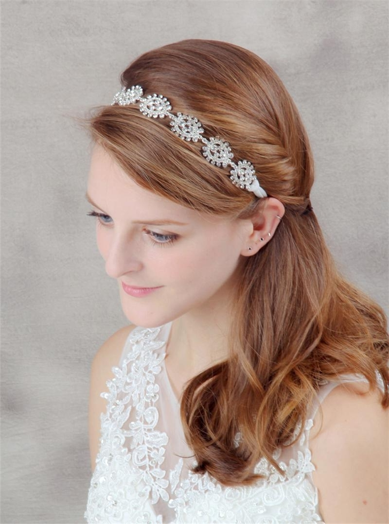 Crystal Head Chain Tiara Wedding Headband Hair Accessories With Regard To 2018 Wedding Hairstyles With Hair Accessories (View 3 of 15)