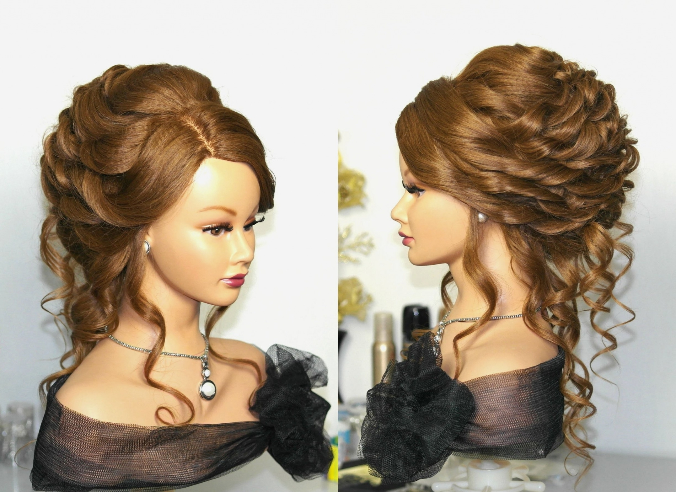 Curly Hairstyles : Wedding Hairstyles For Long Curly Hair Updos With Most Up To Date Wedding Updo Hairstyles For Long Curly Hair (View 3 of 15)