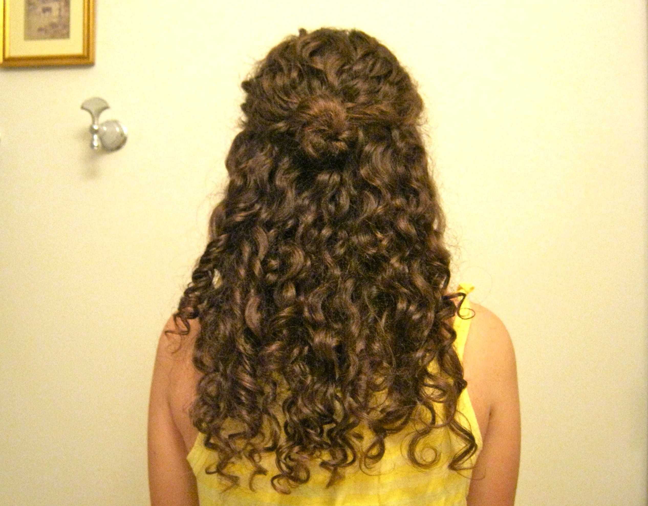 Curly Half Up Wedding Hairstyles (View 4 of 15)