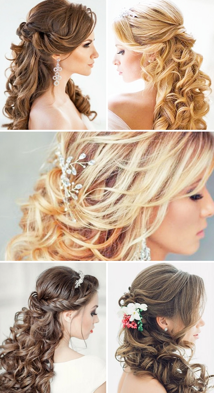 Curly Wedding Pertaining To Well Known Curly Wedding Hairstyles (View 13 of 15)