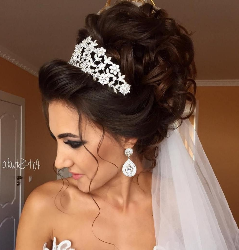 Curly Wedding Updo (View 6 of 15)