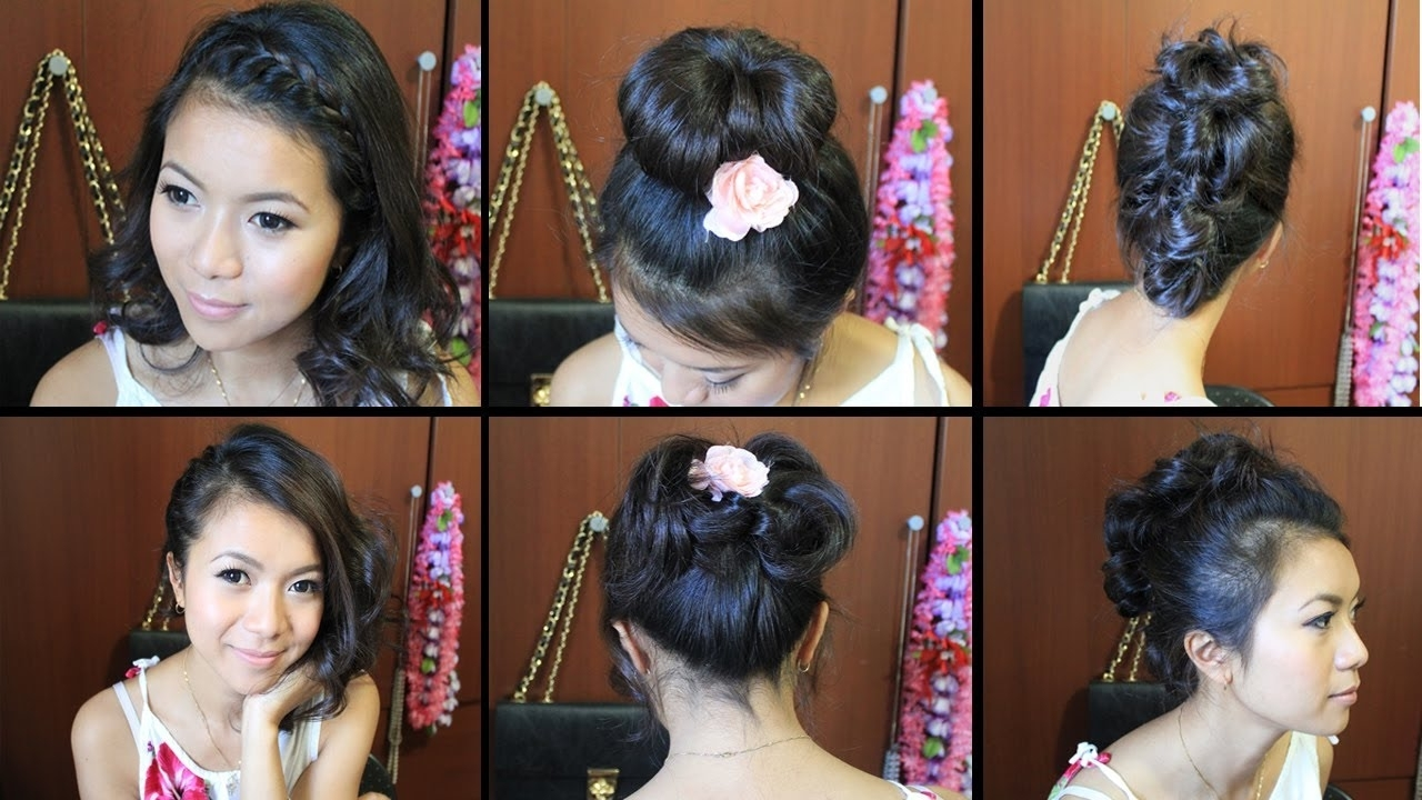Current Easy Indian Wedding Hairstyles For Short Hair Intended For Cute Hairstyles For Short Medium Hair Tutorial – Youtube (View 5 of 15)