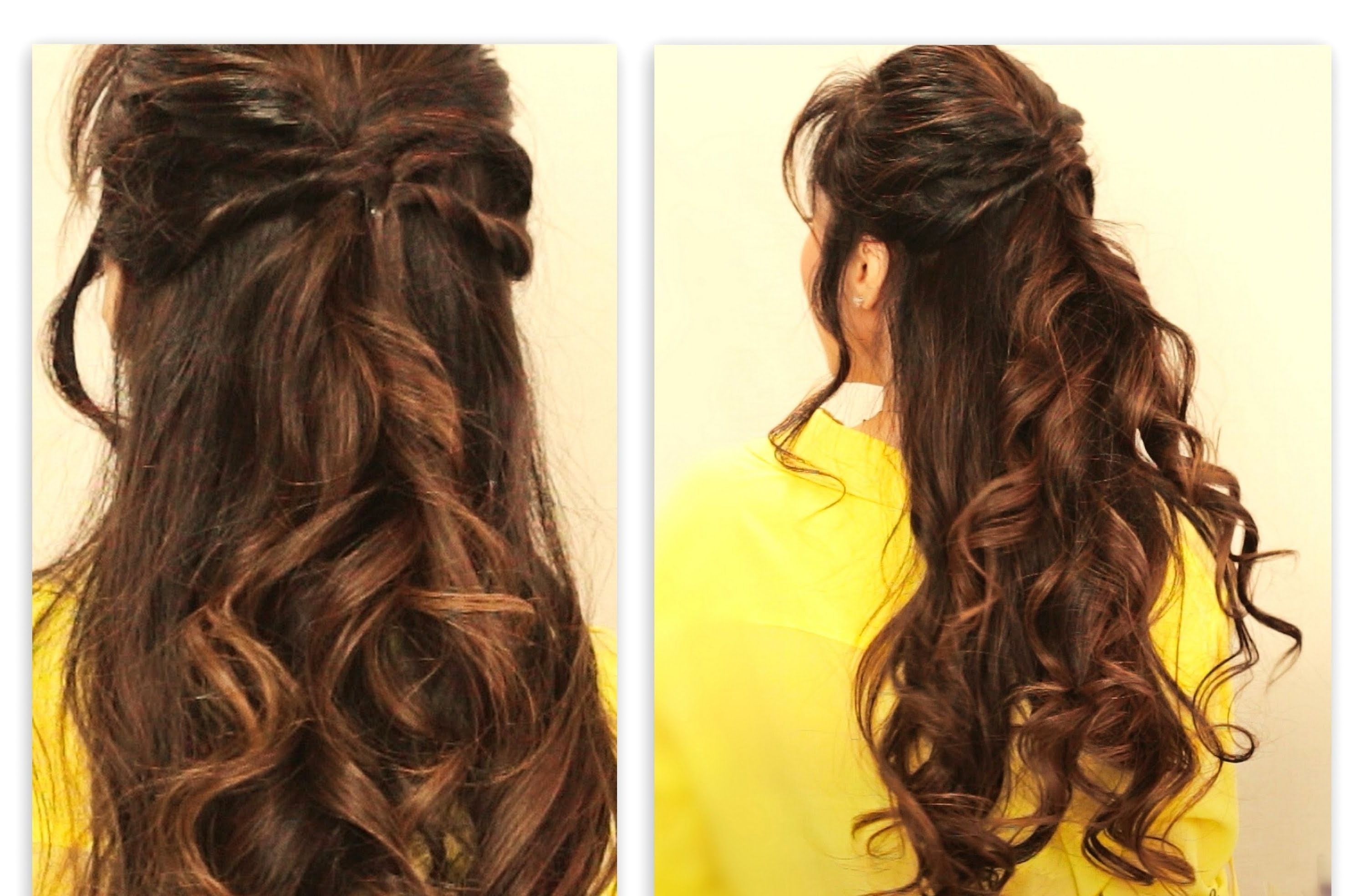 Current Half Up Half Down With Braid Wedding Hairstyles Regarding ☆ Cute Twisted Flip Half Up Half Down Fall Hairstyles For Medium (View 10 of 15)