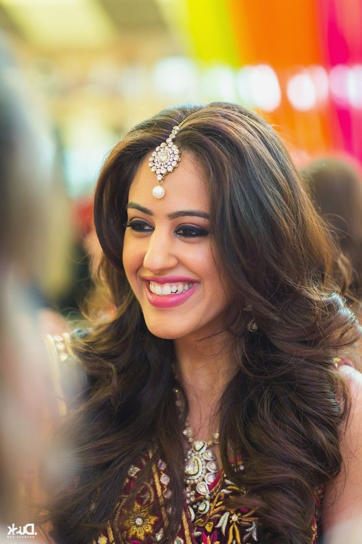 Current Indian Wedding Reception Hairstyles Intended For Wedding Hairstyles : Best Hairstyles For Indian Wedding Reception (View 4 of 15)
