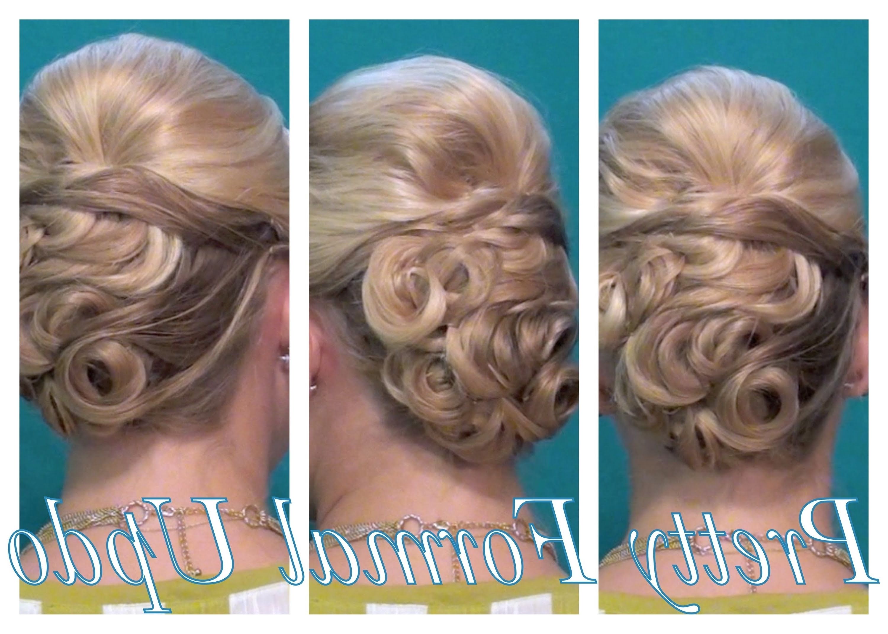 Current Pin Curls Wedding Hairstyles With Pretty Pin Curled Formal Updo – Youtube (View 7 of 15)