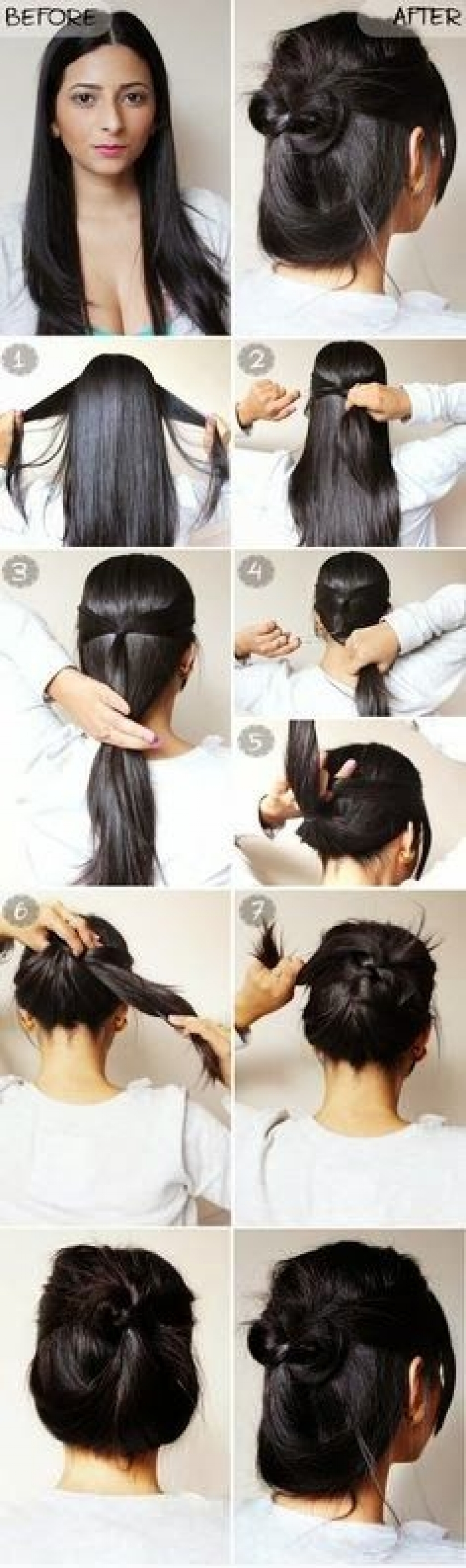 Current Quick And Easy Wedding Hairstyles For Long Hair Pertaining To Quick Amp Easy 2 Minute Casual Updo Tutorial Haircuts Amp Hairstyles (View 7 of 15)