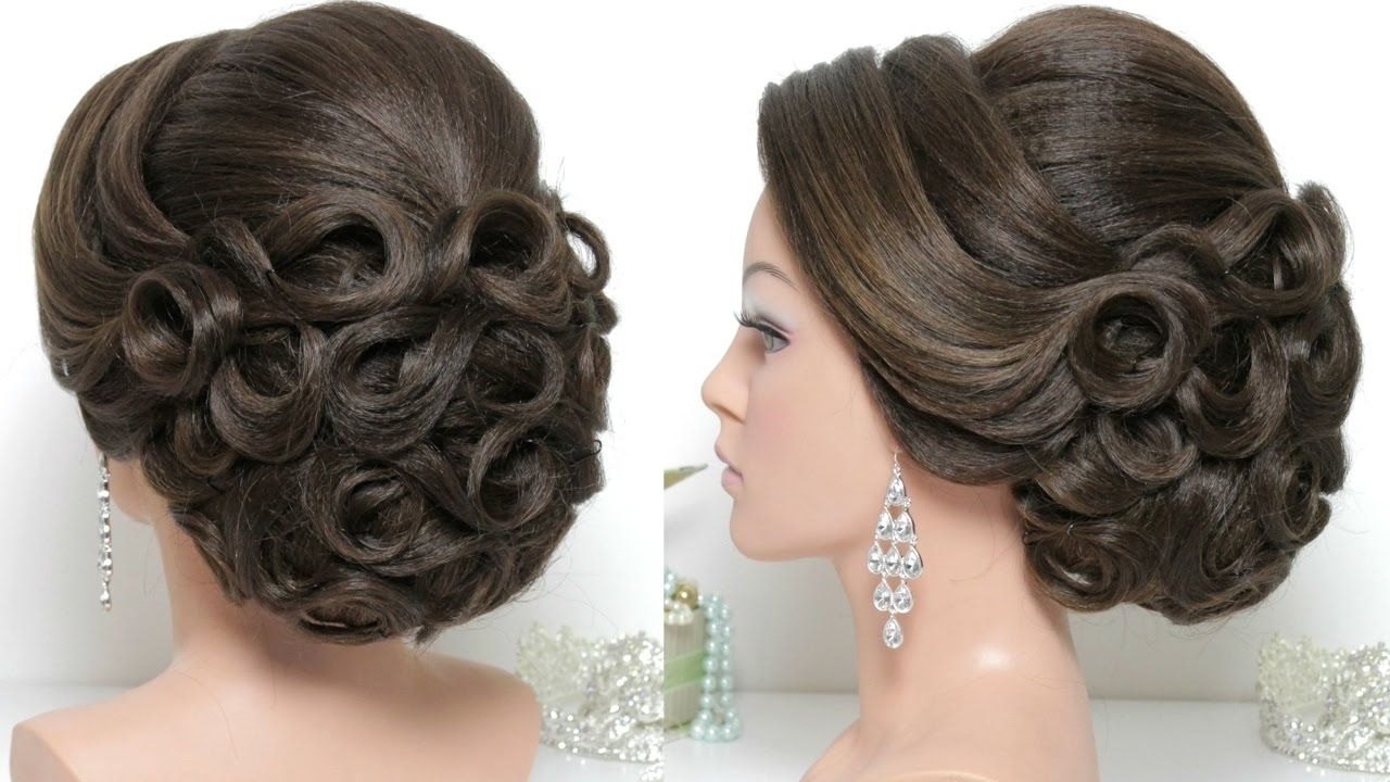 Current Updos Wedding Hairstyles For Long Hair Inside Bridal Hairstyle For Long Hair Tutorial (View 4 of 15)