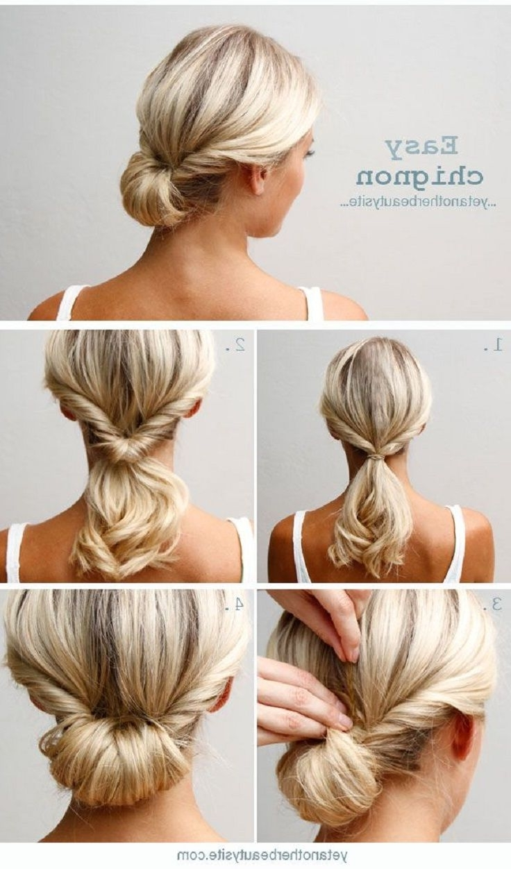 Current Wedding Easy Hairstyles For Medium Hair Intended For Top 10 Super Easy 5 Minute Hairstyles For Busy Ladies (View 14 of 15)