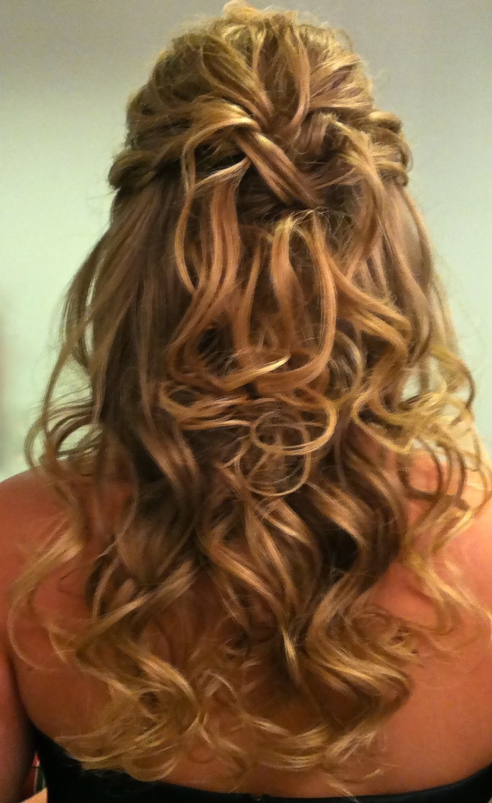 Current Wedding Hairstyles Down For Thin Hair Within Even Thin Hair Can Look Thicker In This Classic Half Up And Half (View 4 of 15)