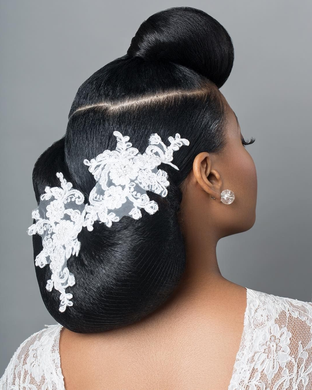 Current Wedding Hairstyles For Afro Hair Regarding Her Very Thick Afro Hair Was 'patiently' Blow Dried And In Two (View 5 of 15)