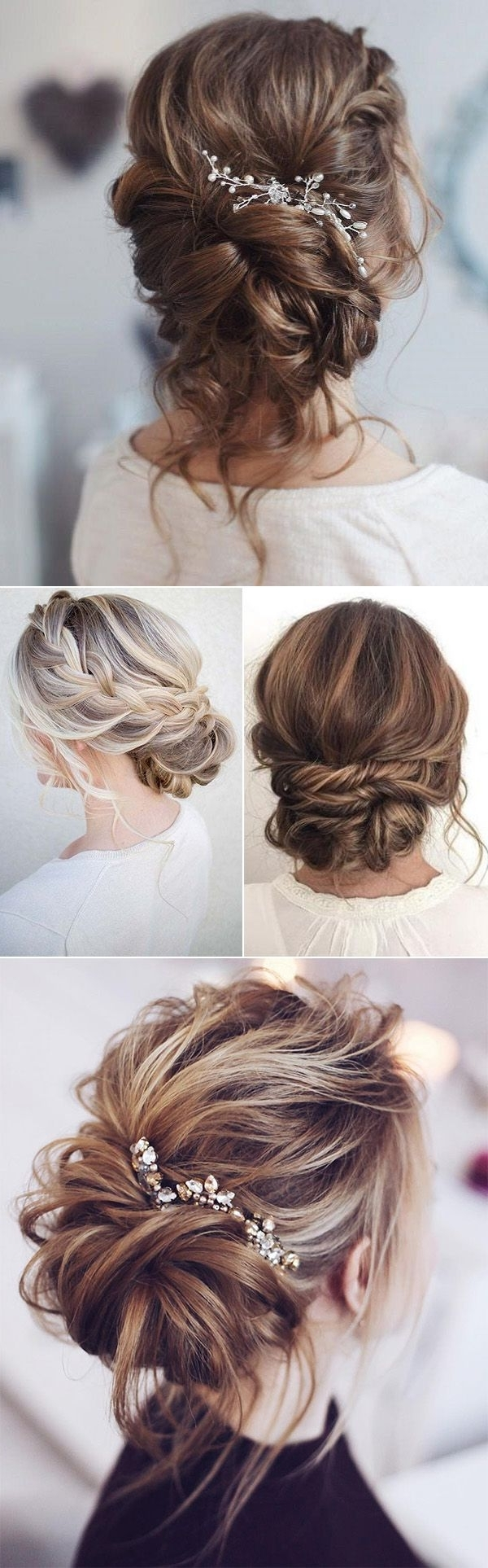 Current Wedding Hairstyles For Long Loose Hair Intended For 25 Drop Dead Bridal Updo Hairstyles Ideas For Any Wedding Venues (View 15 of 15)