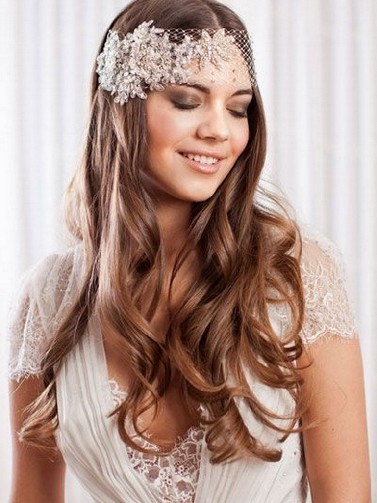 Current Wedding Hairstyles For Long Loose Hair With Regard To Loose Curls Hairstyle For Long Hair Wedding Hairstyles Loose Curls (View 6 of 15)