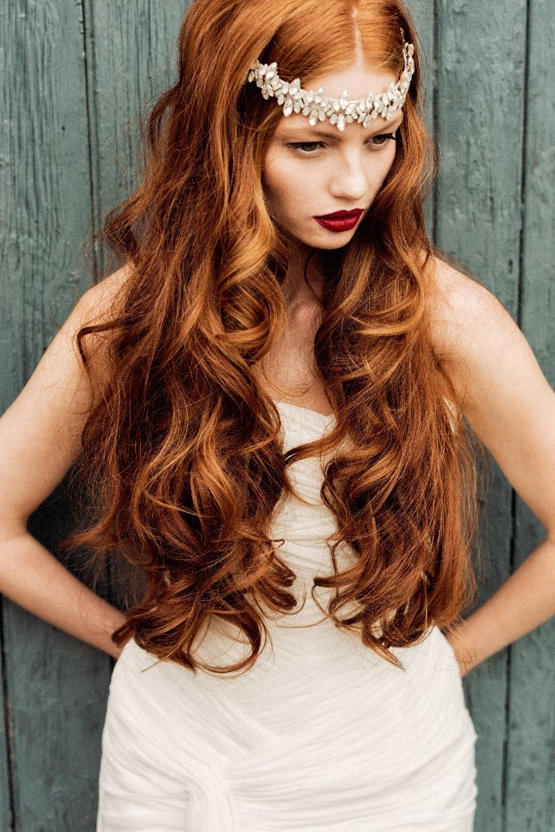 Current Wedding Hairstyles For Long Red Hair Intended For Amber Dust! Pretty Amber Coloured Wedding Ideas (View 5 of 15)