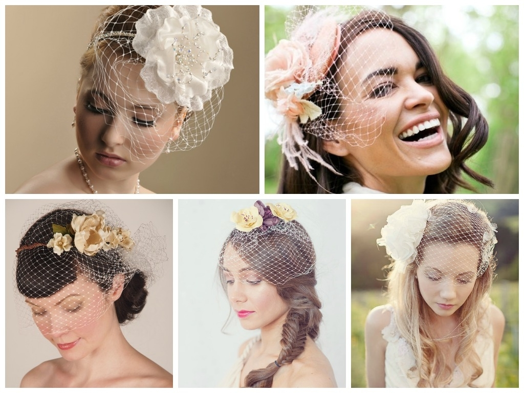 Current Wedding Hairstyles For Short Hair With Birdcage Veil In Wedding Hairstyles With A Birdcage Veil – Hair World Magazine (View 11 of 15)