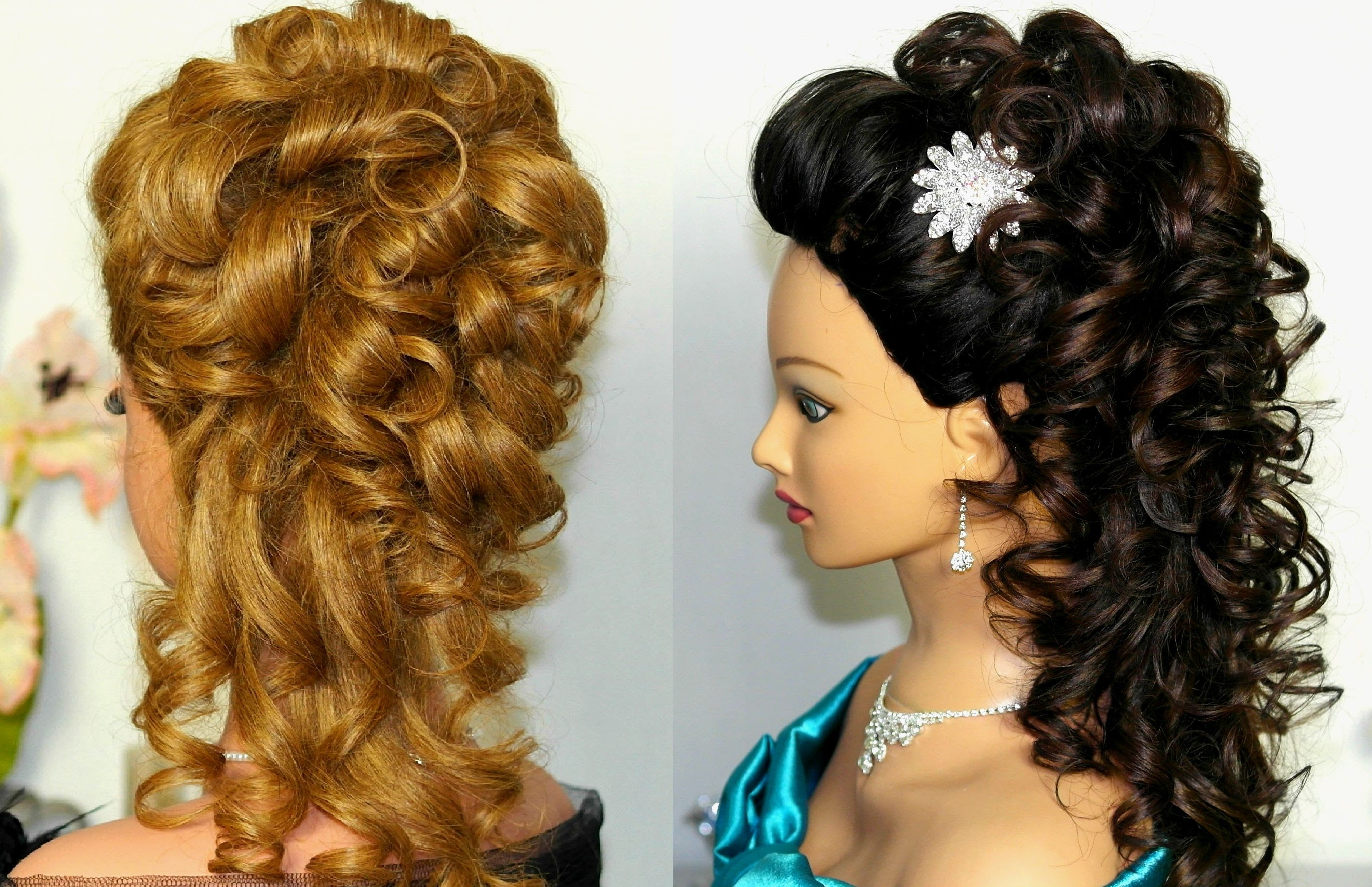 Current Wedding Hairstyles With Curls Inside Bridal, Prom Hairstyle For Long Hair. Curly Hairstyle (View 8 of 15)