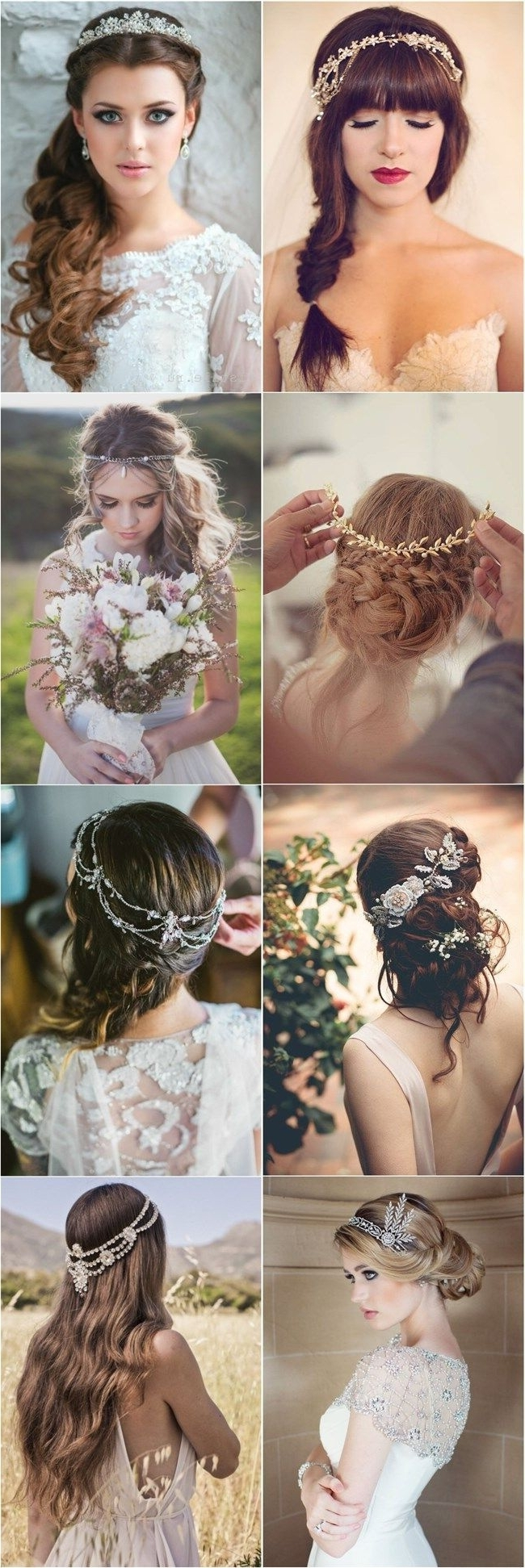 Current Wedding Hairstyles With Headpiece Within 30 Amazing Wedding Hairstyles With Headpiece (View 2 of 15)