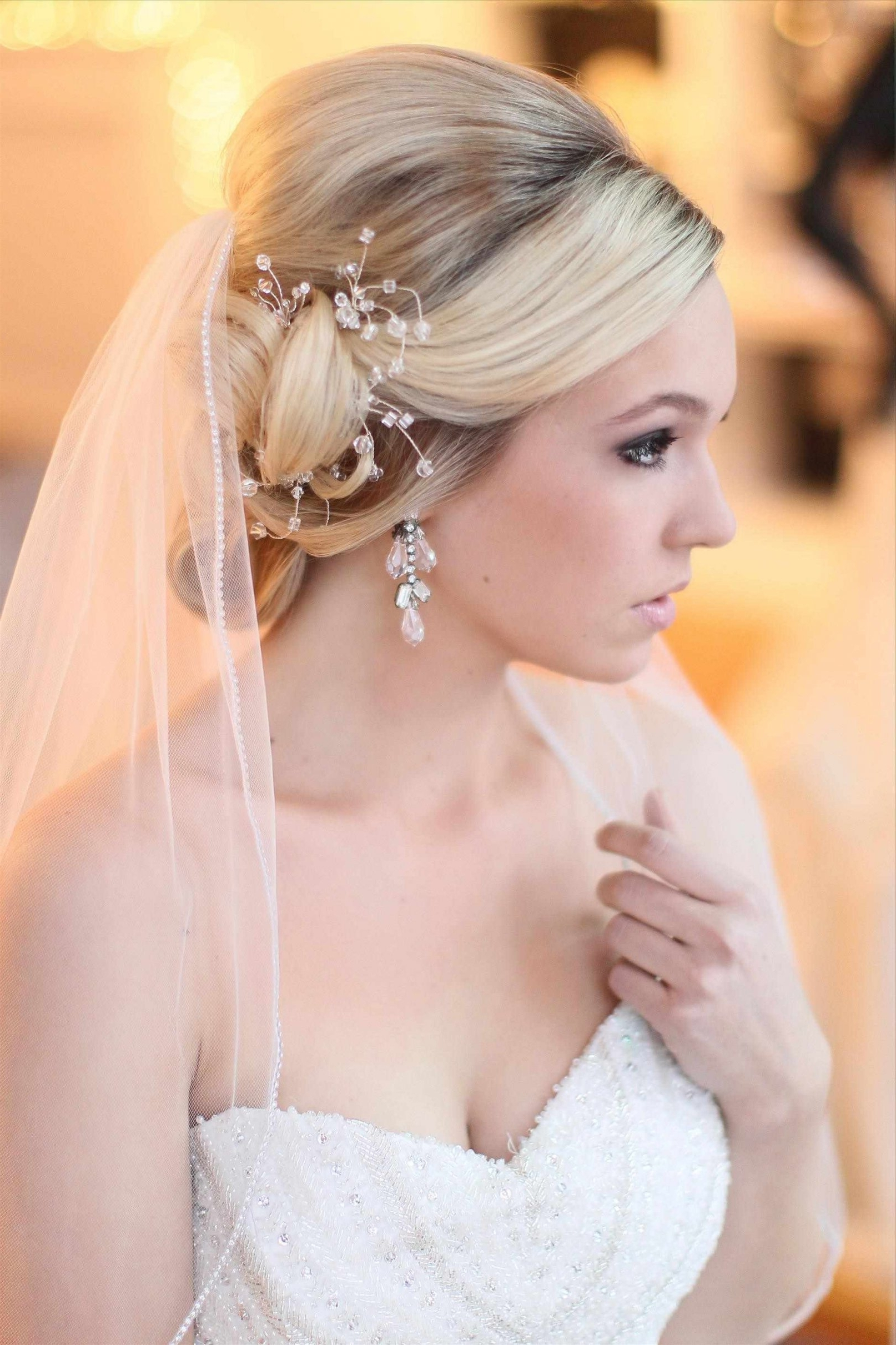 Current Wedding Hairstyles Without Veil With Wedding Updos For Short Hair With Veil (View 2 of 15)