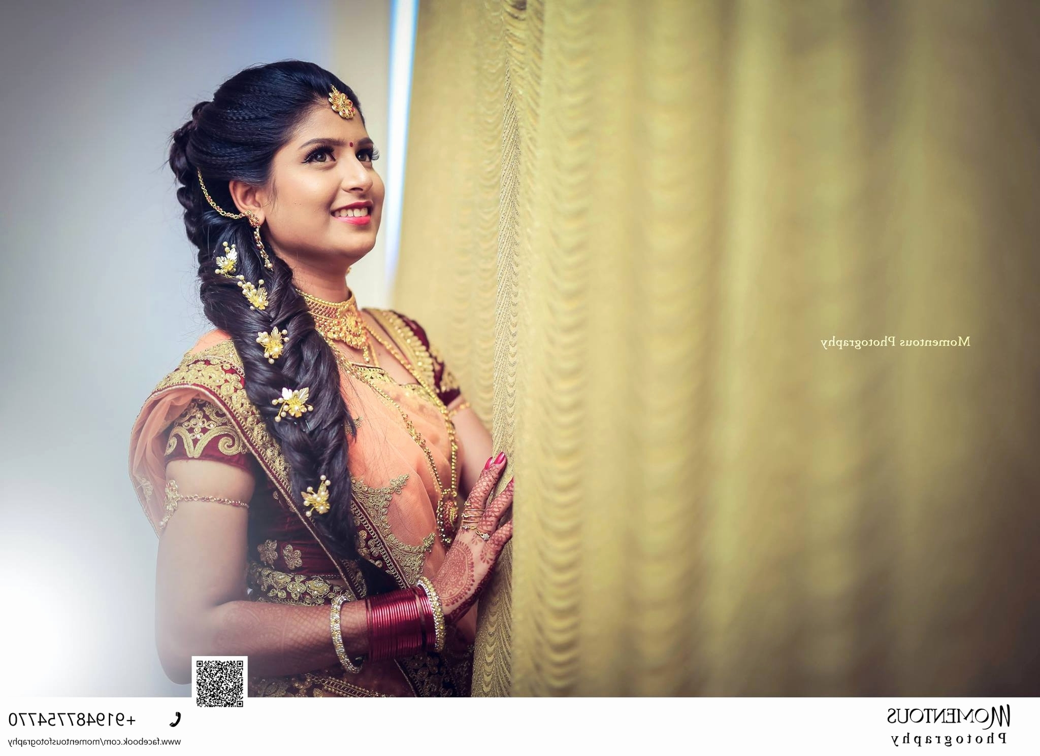 Current Wedding Reception Hairstyles For Long Hair Inside Indian Wedding Reception Hairstyles Unique Bridal Hairstyle For (View 14 of 15)