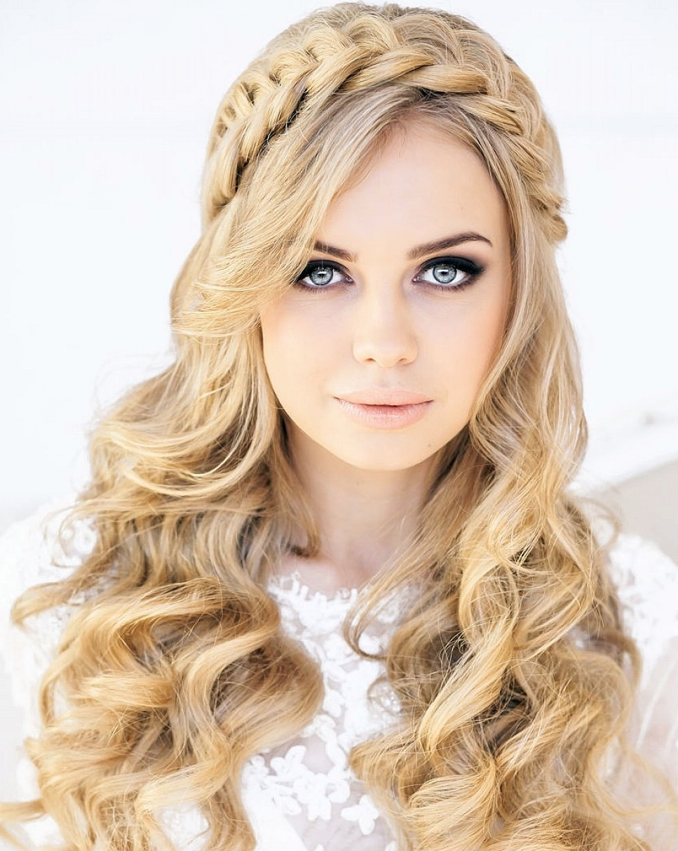Cute Hairstyles For Long Curly Hair Best Of Easy Stock Photos Hd Inside Trendy Wedding Hairstyles For Long Hair And Oval Face (View 2 of 15)